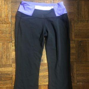 LuluLemon workout pants , cropped , black,purple 6